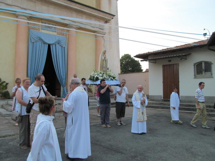 La partenza della processione