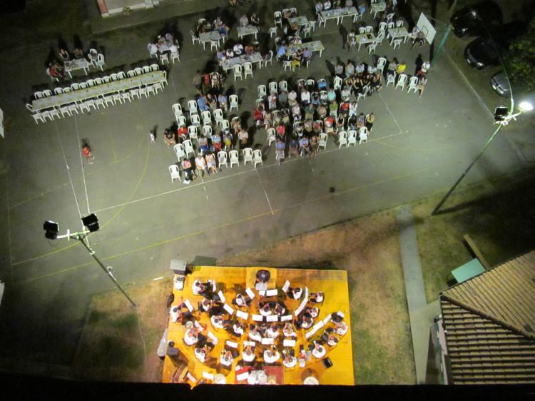 Visione aerea del concerto del Corpo Musicale Villadosia